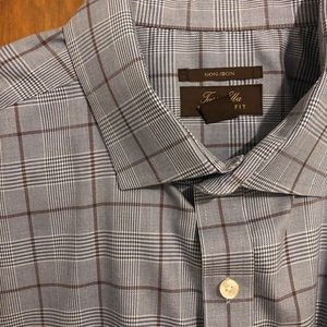 Tasso Elba Men's Classic/Regular Plaid Shirt. XXL